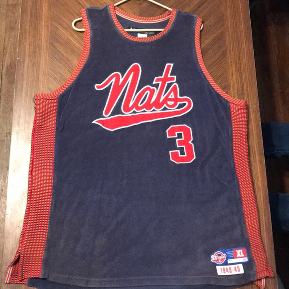 cheap for discount fe42c 2982f allen iverson Syracuse nat's throwback jersey